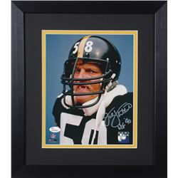 "Jack Lambert Signed Steelers 13.75x15.5 Custom Framed Photo Display Inscribed ""HOF '90"" (JSA COA)"