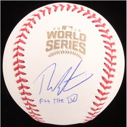 """Theo Epstein Signed 2016 World Series Baseball Inscribed """"Fly The W"""" (Schwartz COA)"""