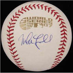 """Mike Lowell Signed Red Sox 2007 World Series Baseball with """"The Captain"""" Inscription (JSA COA  Sure"""
