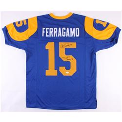 """Vince Ferragamo Signed Rams Throwback Jersey Inscribed """"79 NFC Champs"""" (JSA COA)"""