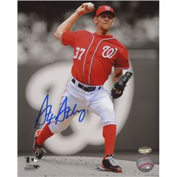Stephen Strasburg Signed Nationals 8x10 Photo (Schwartz COA)
