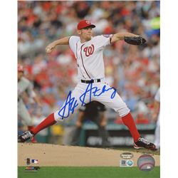 Stephen Strasburg Signed Nationals 8x10 Photo (Schwartz COA  MLB Hologram)
