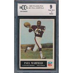 1965 Philadelphia #41 Paul Warfield RC (BCCG 9)