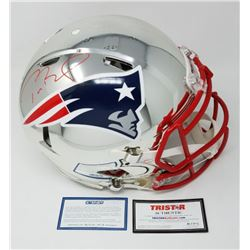 Tom Brady Signed Patriots Limited Edition Chrome Full-Size Authentic On-Field Speed Helmet (Steiner