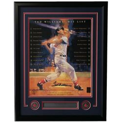 Ted Williams SIgned Red Sox 22x30 Custom Framed Photo Display (Williams Hologram)