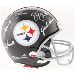 Steelers Legends Full-Size Helmet Signed by (6) with Jack Lambert, Jack Ham, Andy Russell, Mel Bloun