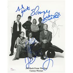 """""""3rd Rock From The Sun"""" 8x10 Cast-Signed Photo with John Lithgow, French Stewart, Elmarie Wendel, Kr"""