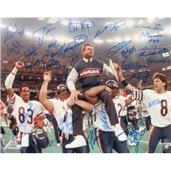 1985 Bears Super Bowl XX 16x20 Photo Team-Signed by (31) With Mike Ditka, Mike Singletary, William P