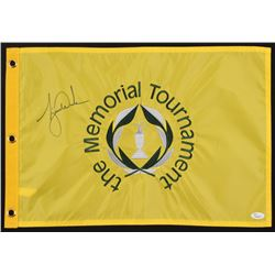 Tiger Woods Signed The Memorial Tournament Pin Flag (JSA LOA)