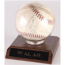 1995 American League All-Star Team Game Logo Baseball Team-Signed by (25) With Frank Thomas, Cal Rip