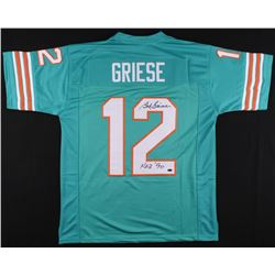 """Bob Griese Signed Dolphins Jersey Inscribed """"H.O.F. '90"""" (Schwarts Sports COA)"""