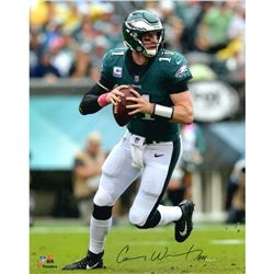 "Carson Wentz Signed Eagles 16x20 Photo Inscribed ""AO1"" (Fanatics Hologram)"