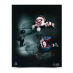 "Joe Sakic Signed Avalanche ""Face-Off"" 16x20 Limited Edition Photo (UDA COA)"