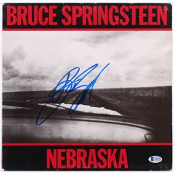 "Bruce Springsteen Signed ""Nebraska"" Vinyl Record Album Cover (Beckett LOA)"
