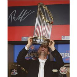 "Theo Epstein Signed Cubs ""2016 World Series"" 8x10 Photo (Schwartz COA)"