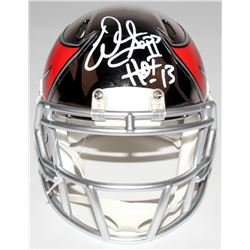 "Warren Sapp Signed Buccaneers Mini Chrome Speed Helmet Inscribed ""HOF 13"" (JSA COA)"