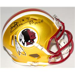 "Joe Theismann Signed Redskins Mini Blaze Speed Helmet Inscribed ""83 MVP"" (JSA COA)"
