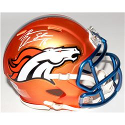 Jake Plummer Signed Broncos Mini Blaze Speed Helmet (Beckett COA)