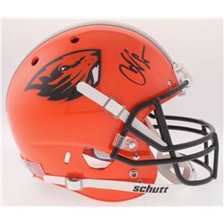 "Chad ""Ocho Cinco"" Johnson Signed Oregon State Beavers Full-Size Helmet (Radtke COA)"