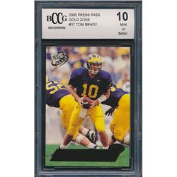 2000 Press Pass Gold Zone #37 Tom Brady (BCCG 10)