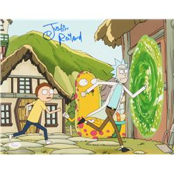 "Justin Roiland Signed ""Rick and Morty"" 11x14 Photo (JSA COA)"