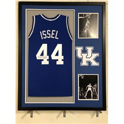 Dan Issel Signed Kentucky Wildcats 34x42 Custom Framed Jersey (JSA COA)