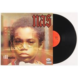 "Nas Signed ""Illmatic"" Vinyl Record Album Cover (PSA COA)"