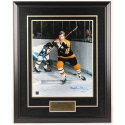 """Bobby Orr Signed Bruins """"The Game"""" 25.5x31.5 Custom Framed Photo Display (Great North Road COA)"""