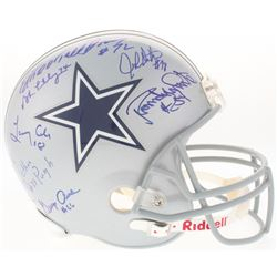 """Doomsday Defense I  II Cowboys Full-Size Helmet Signed by (7) with Bob Lilly, Ed """"Too Tall"""" Jones, R"""