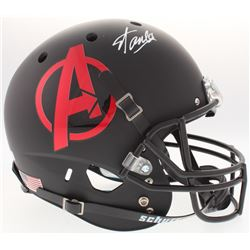 "Stan Lee Signed ""Avengers"" Logo Custom Matte Black Full-Size Helmet (Lee Hologram  Radtke COA)"
