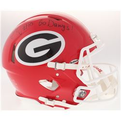 "Thomas Davis Signed Georgia Bulldogs Full-Size Authentic Speed Helmet  Inscribed ""Go Dawgs!""(JSA COA"