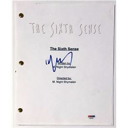 "M. Night Shyamalan Signed ""The Sixth Sense"" Full Movie Script (PSA COA)"