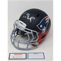 "Tom Brady Signed Limited Edition Patriots ""Fade to Black"" Full-Size Authentic On-Field Helmet (Stein"