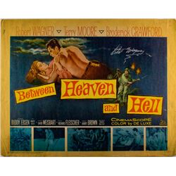 "Robert Wagner Signed Vintage 1961 ""Between Heaven and Hell"" 22x28 Movie Poster (JSA COA)"