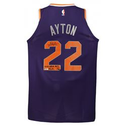 """Deandre Ayton Signed LE Suns Nike Authentic Jersey Inscribed """"2018 NBA #1 Pick"""" (Game Day Legends CO"""