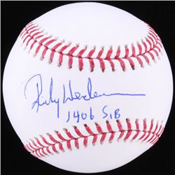 "Rickey Henderson Signed OML Baseball Inscribed ""1406 SB"" (JSA COA)"
