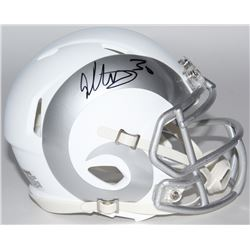 Todd Gurley Signed Rams White ICE Speed Mini Helmet (Radtke COA)