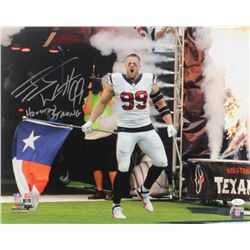 "J. J. Watt Signed Texans 16x20 Photo Inscribed ""Houston Strong"" (JSA COA  Watt Hologram)"