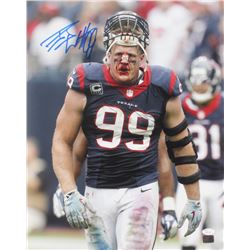 J. J. Watt Signed Texans 16x20 Photo (JSA COA  Watt Hologram)