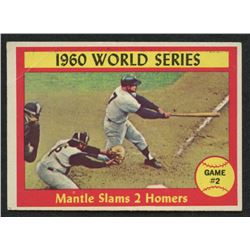 1961 Topps #307 World Series Game 2 / Mickey Mantle