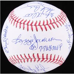 1977 Yankees OML Baseball Signed by (20) with Reggie Jackson, Graig Nettles, Sparky Lyle, Jimmy Wynn