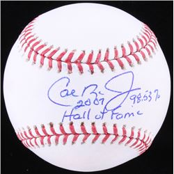 "Cal Ripken Jr. Signed OML Baseball Inscribed ""2007 Hall of Fame""  ""98.53%"" (JSA COA)"