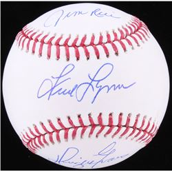 Jim Rice, Fred Lynn  Dwight Evans Signed OML Baseball (JSA COA)