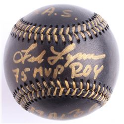 Fred Lynn Signed Black Leather OML Baseball with (3) Inscriptions (JSA COA)
