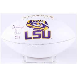 Derrius Guice Signed LSU Tigers Logo Football (JSA COA)