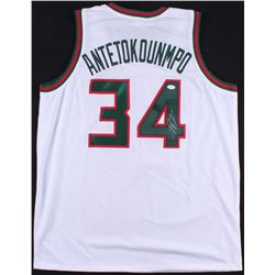 "Giannis Antetokounmpo Signed Bucks Jersey Inscribed ""Greek Freak"" (JSA COA)"