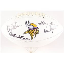 "Vikings ""Purple People Eaters"" Logo Football Signed by (4) with Alan Page, Gary Larsen, Carl Eller,"