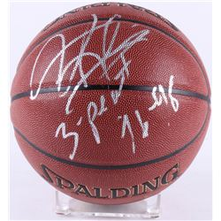 "Dennis Rodman Signed NBA Basketball Inscribed ""3 Peat 96-98"" (Schwartz COA)"