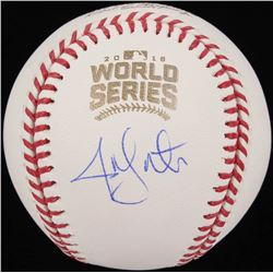 Jon Lester Signed 2016 World Series Logo Baseball (Schwartz COA)