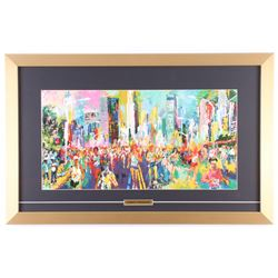 "LeRoy Neiman ""The New York City Marathon"" 16x25 Custom Framed Print Display"